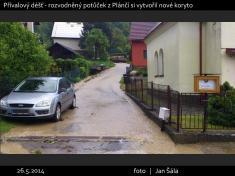 Přívalový déšť 26.5.2014