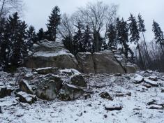 Zadní skaly vDržkové vzimě