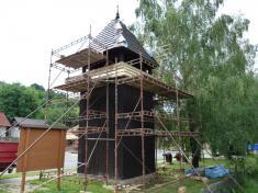 Opravy dřevěné zvonice, 24.7.2016