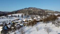 Zimní letecké snímky 17.1.2021