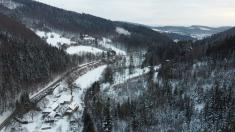 Zimní letecké snímky 16.1.2021